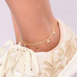 Fashion Nova gold multi chain ankle bracelet